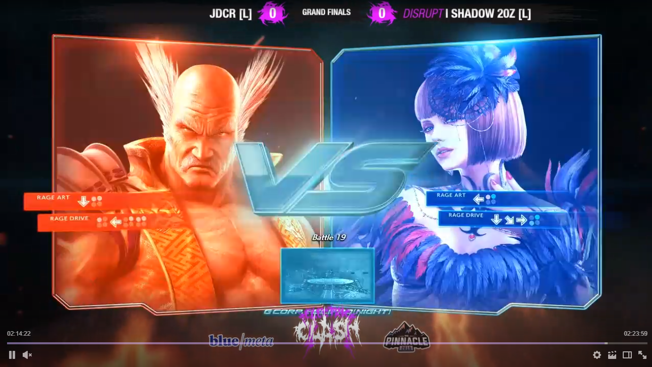 blue/met and Pinnacle logos featured on Electric Clash screen